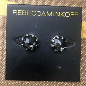 NEW Rebecca Minkoff Black Gem Earrings